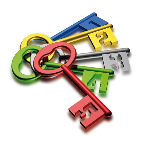 five-keys-numbered-different-colors